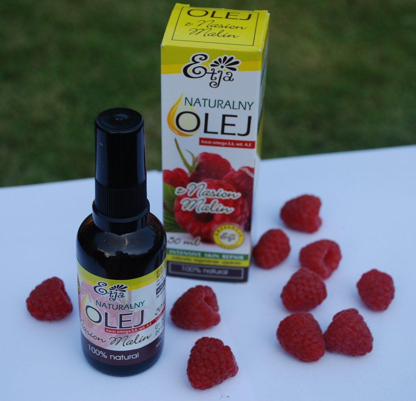 Naturalny olejek z pestek malin idealny na lato