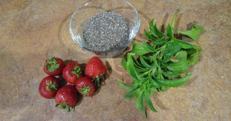 Naturalny dżem z truskawek ze stewią i nasionami chia